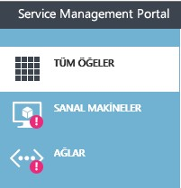 screenshot of Azure Pack Tenant portal
