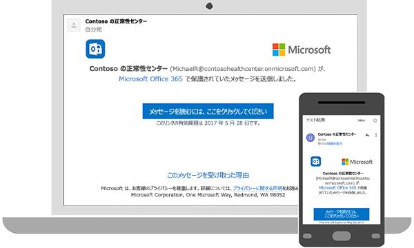 暗号化されたメッセージは、デスクトップまたは携帯電話で読むことができます。