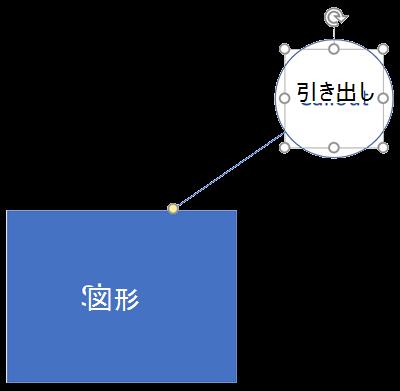 Visio 図形と、関連付けられている吹き出し。