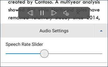 [音声レート] スライダー
