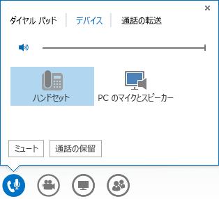 音声オプションのスクリーン ショット