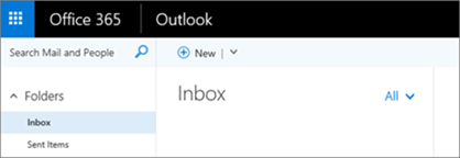 Outlook on the web でのリボンの外観を示す画像。