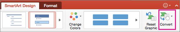PowerPoint for Mac で SmartArt を文字に変換する