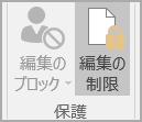文書の保護オプション