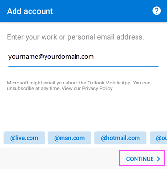 android 版 outlook アプリでメールをセットアップする office サポート