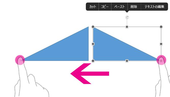 図形を水平方向に反転させる