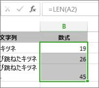 LEN 関数の例