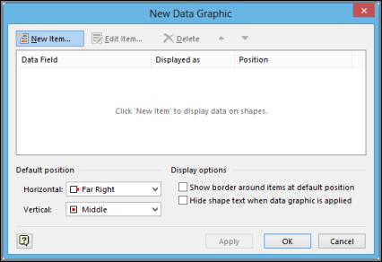 新しいデータ グラフィック