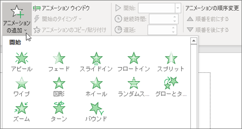 Office 365 PowerPoint アニメーション