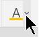 [フォントの色] ボタン