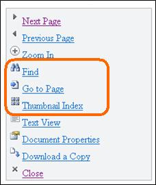 Mobile Viewer for Word のメニュー