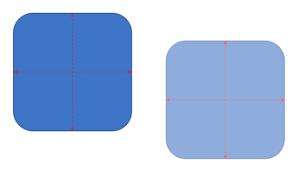 スマート ガイド ヘルプ等しいオブジェクトのサイズを変更します。