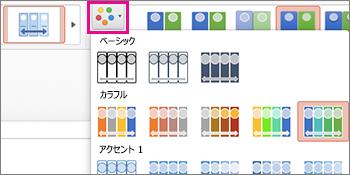 タイムラインの配色パターンを変更する