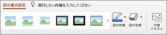 PowerPoint for Mac の画像のリボンの [代替テキスト] ボタン。