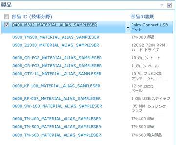 製品サイトには、SAP ライブラリの製品のリストが表示されます。