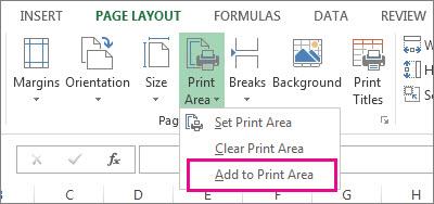 印刷範囲に追加