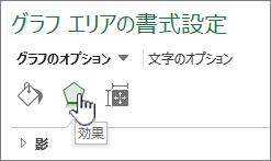 [グラフ効果] ボタン