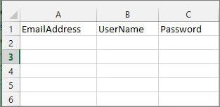 Excel 移行ファイルのセル見出し