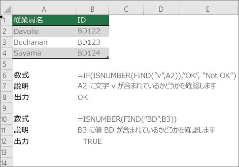 セルの一部であるが、特定のテキストと一致するかどうかに、例を使用する場合、ISNUMBER、および FIND 関数します。