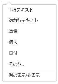ドキュメント ライブラリに表示する列を選択する