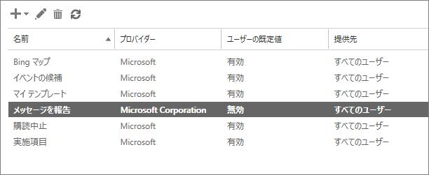 EAC で、Outlook のメッセージのレポート アドインを有効にしたことができます。