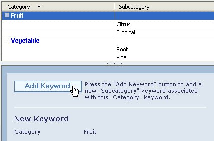 サブキーワードをキーワードに追加する