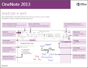 OneNote 2013 クイック スタート ガイド