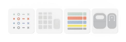 Surface Adaptive Kit で使用できるすべてのラベルとオープナー。