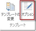 Publisher 2013 の [テンプレートのオプション]