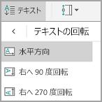 Android の表のテキストの回転