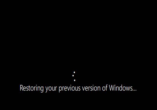 Windows の以前のバージョンを復元します。