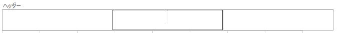 行 1 の上にヘッダーを表示します。