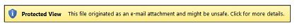 電子メールの添付ファイルに対する保護ビュー