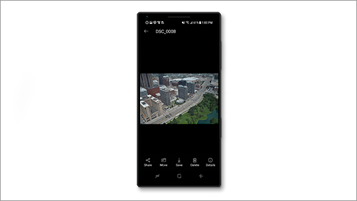 画像が表示されている Android