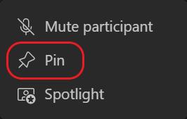 Teams-Pinボタンが丸で囲まれます。