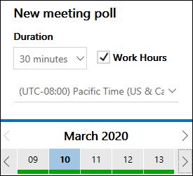 FindTime 会議の期間