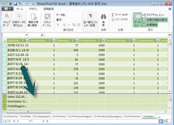 PowerPivot 計算領域