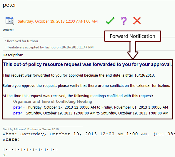 Forward Notification