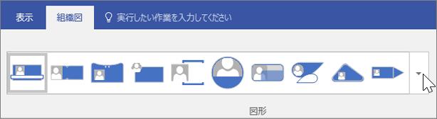 [組織図] ツール バーのスクリーンショット