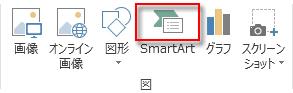 [挿入] タブの [図] の中の [SmartArt]