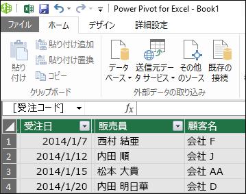 Power Pivot Table ビュー