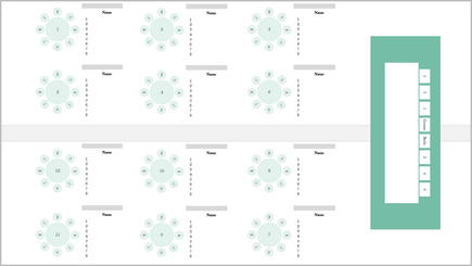 宴会用座席図の概念図