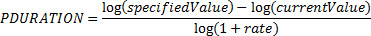 PDURATION 数式