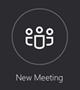 [新しい会議] ボタン
