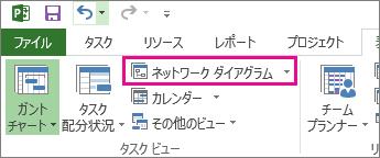 [ネットワーク ダイアグラム] をクリックして、ネットワーク ダイアグラム ビューを開く。