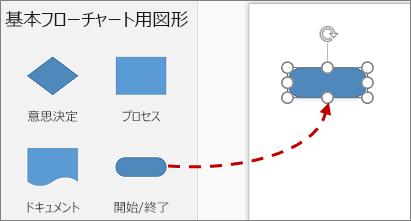 [図形] ウィンドウからページに図形をドラッグする