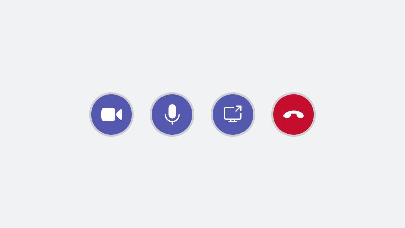 [画面の共有] ボタン
