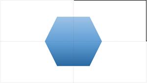スマート ガイドでは、スライドの 1 つのオブジェクトを中央揃えできます。