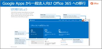 Google Apps と Office 365 間の移行ガイドのサムネイル