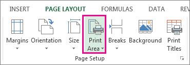 印刷範囲の設定